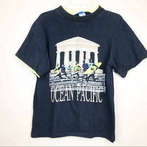 Vintage OP ocean pacific surf neon t-shirt medium